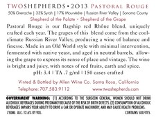 2013 Pastoral Rouge